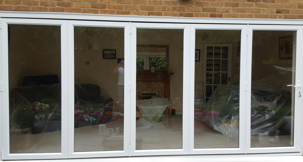 uPVC by-folding double and triple patio doors